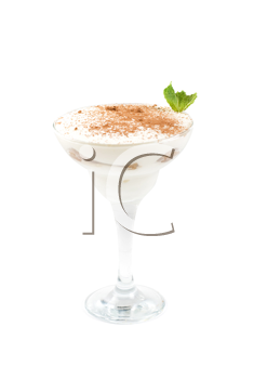 Royalty Free Photo of a Milk Cocktail With Chocolate and Mint