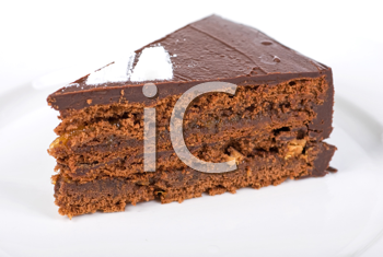Royalty Free Photo of a Piece of Chocolate Cake