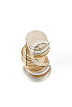 Royalty Free Photo of a Stack of Finland Penni Coins