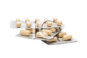 Blisterpack of Pills isolate on White Background