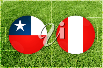 Illustration for Football match Chile vs Peru