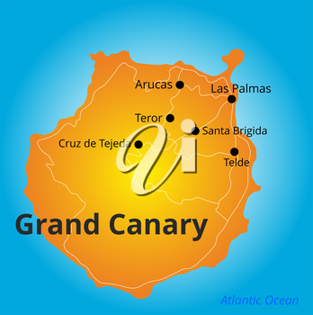 Vector color map of Grand Canary