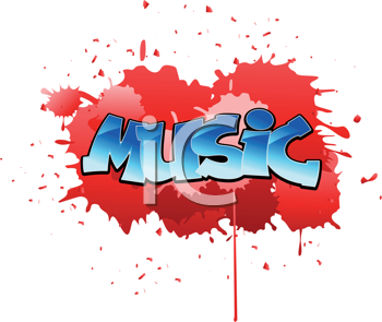 Royalty Free Clipart Image of an Urban Music Background