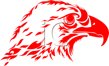 Royalty Free Clipart Image of an Eagle's Head