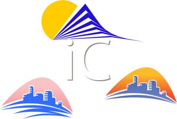 Royalty Free Clipart Image of Modern Buildings
