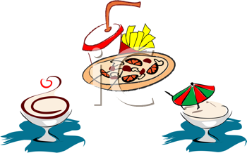 Royalty Free Clipart Image of Fast Food