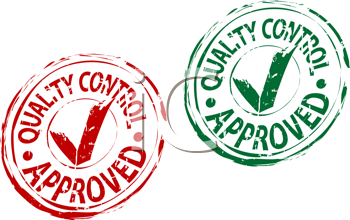 Royalty Free Clipart Image of Approval Stamps