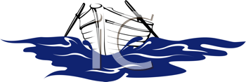 Royalty Free Clipart Image of a Row Boat