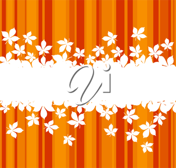 Autumnal  leaves background with frame for seasonal design