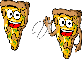 Royalty Free Clipart Image of Pizza Slice