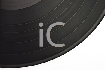 Royalty Free Photo of an Old Dusty Scratched Vinyl Record