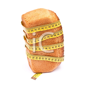 Bread wrapped with a measurement tape
