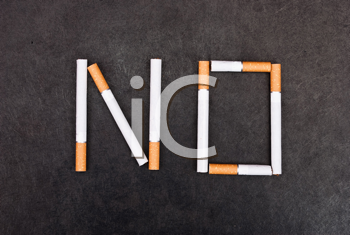Royalty Free Photo of a No Smoking Message