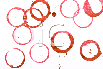 Royalty Free Photo of Red Wine Ring Stains