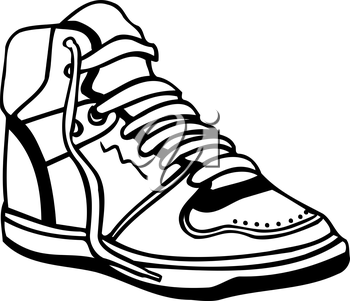 Royalty Free Clipart Image of a Sneaker