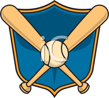 Royalty Free Clipart Image of a Baseball Symbol