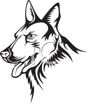 Royalty Free Clipart Image of a German Shepherd