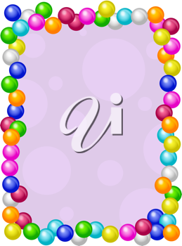 Royalty Free Clipart Image of a Gumball Border