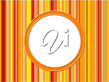 Royalty Free Clipart Image of an Orange Stripe Background