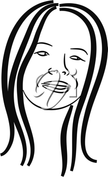 Royalty Free Clipart Image of a Smiling Girl