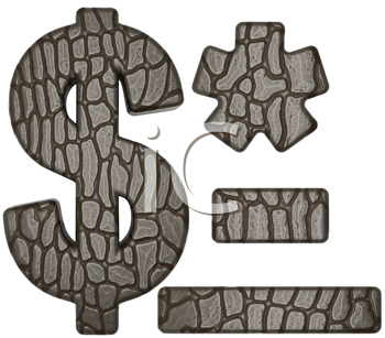 Royalty Free Clipart Image of Alligator Skin Fonts