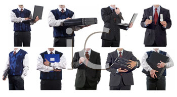 Royalty Free Photo of a Collage of Businessmen