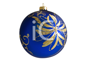 Beautiful Christmas decoration bauble, isolated over white