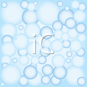 Royalty Free Clipart Image of a Bubble Background