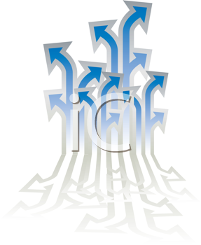 Royalty Free Clipart Image of an Arrow Background