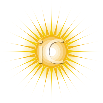 Royalty Free Clipart Image of a Stylized Sun