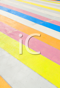 Royalty Free Photo of a Colourful Sidewalk