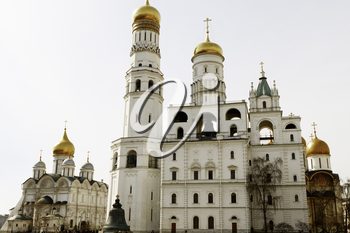 MOSCOW, RUSSIA - April 8, 2015: Views of the Kremlin-fortified complex at the heart of Moscow. It serves as the official residence of the President of the Russian Federation.