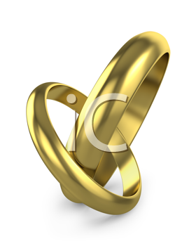 Royalty Free Clipart Image of Connected Wedding Rings