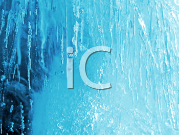 closeup of natural blue ice