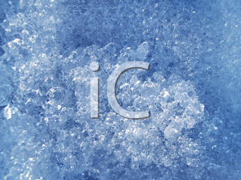 close up of blue ice background