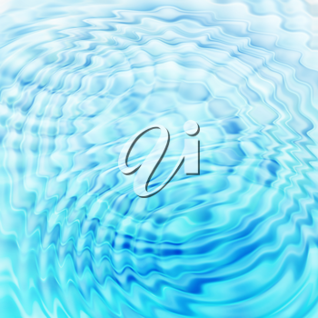 Abstract blue background with round water ripples