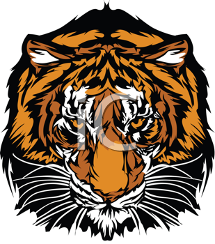 Royalty Free Clipart Image of a Tiger