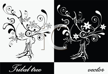 Royalty Free Clipart Image of Tree Silhouettes