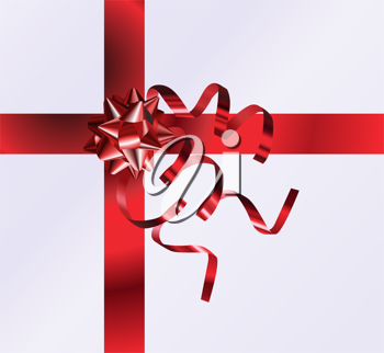 Royalty Free Clipart Image of a Ribbon and Bow Background