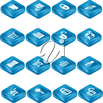 Royalty Free Clipart Image of Security Icons