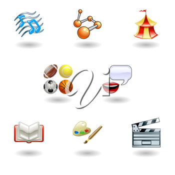 Royalty Free Clipart Image of a Various Icons