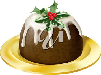 Royalty Free Clipart Image of Christmas Pudding