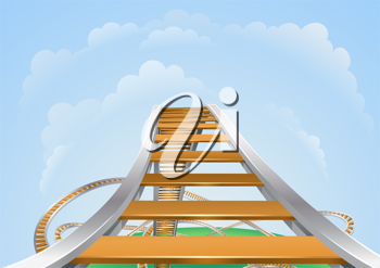 Royalty Free Clipart Image of a Roller Coaster