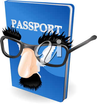 Royalty Free Clipart Image of an Identity Theft Concept