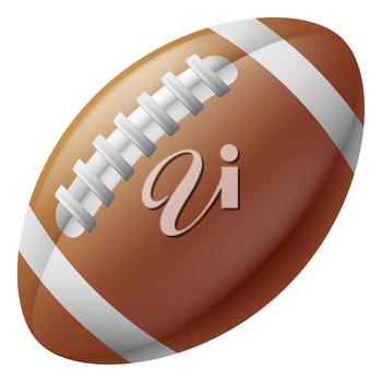 An illustration of a traditional American football ball