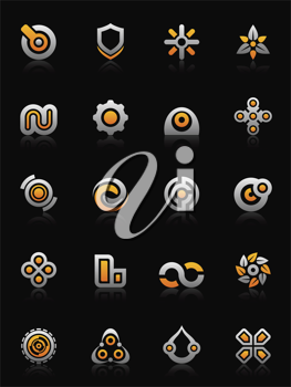 Royalty Free Clipart Image of Design Elements