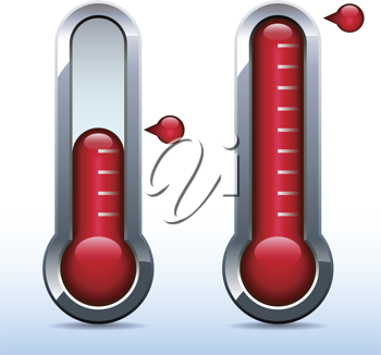 Royalty Free Clipart Image of Thermometers