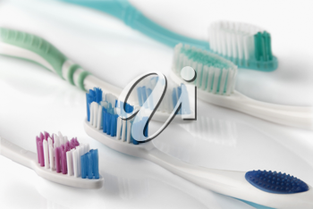Close-up of toothbrushes