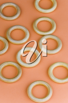 Close-up of curtain rings
