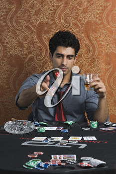 Man at a casino table